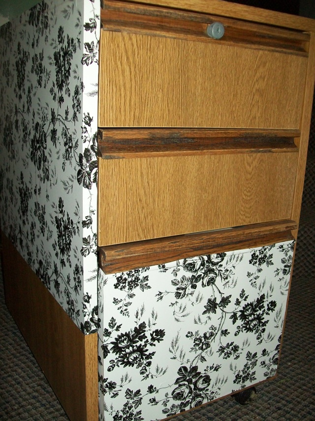 Refinished file cabinet drawers