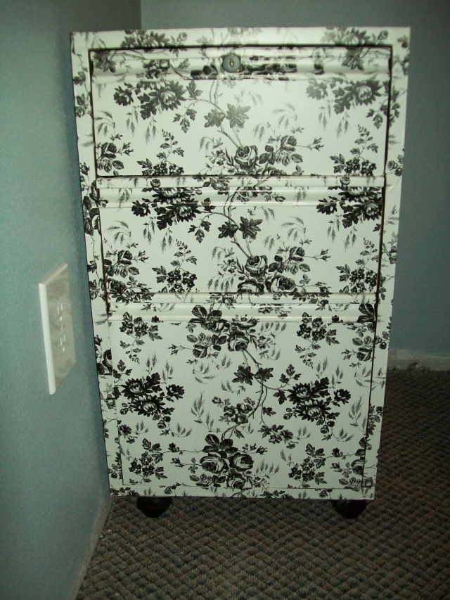 Refinished File Cabinet Final