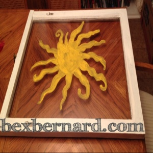 Sun painted window frame