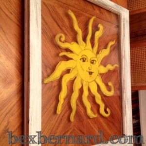 McMenamins sun painted window frame